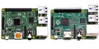Raspberry Pi 1 and 2 computer board images