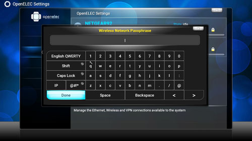 Enter wireless password