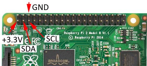 MPR121 Raspberry Pi pins