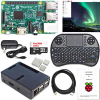 Raspberry Pi Kit with keyboard and black case
