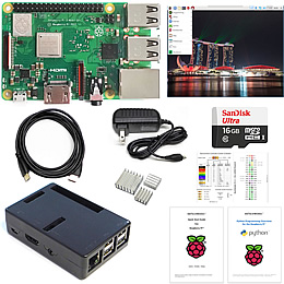Raspberry Pi Kit with black case