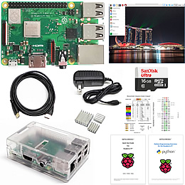 Raspberry Pi Kit with clear case